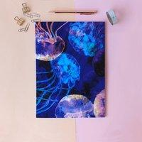 A4 Translucent Jellyfish Notebook
