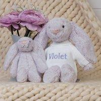 Personalised Lavender Bashful Bunny Soft Toy