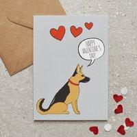 German Shepherd Valentine's Day Card