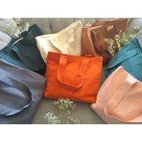 Linen Tote Shopping Bag