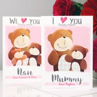 Personalised I Love You Beary Much Mummy Card