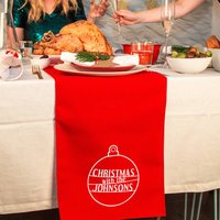 'Christmas With The...' Large Table Runner