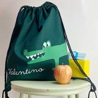 Kids Crocodile Gym Bag With Name