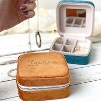 Personalised Velvet Travel Jewellery Box