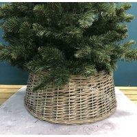 Grey Wicker Christmas Tree Surround