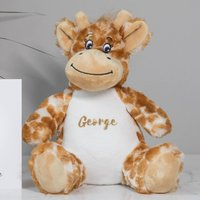 Personalised Giraffe Soft Toy