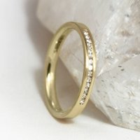 3mm D Profile 18ct Gold 'Clontibret' Eternity Ring, Gold