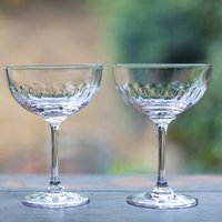 Pair Of Lens Champagne Saucers