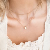 Small Moon Charm Necklace