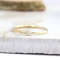 Hale, 18ct Gold Diamond Stack Ring, Gold