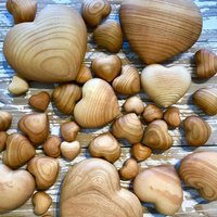 Smooth Cherry Tree Wooden Heart