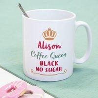 Personalised Tea Or Coffee Queen Mug