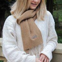 Personalised Camel Merino Wool Scarf