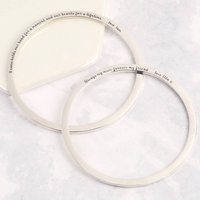 Personalised Engraved Sterling Silver Bangle, Silver