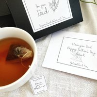 Father's Day Tea Bags With Your Personalised Messages