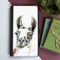 Inky Llama Flip Phone Case With Card Slots