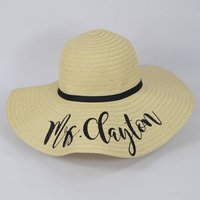 Personalised Summer Floppy Straw Hat