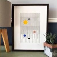 Abstract Horizon Linear Art Print
