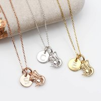 Personalised 18ct Gold Or Silver Tiny Squirrel Necklace, Silver