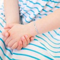 Mini Infinity Silk Personalised Sterling Bracelet