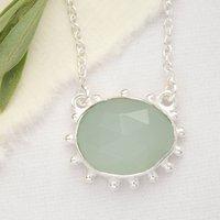 Aqua Chalcedony Gemstone Sundar Necklace