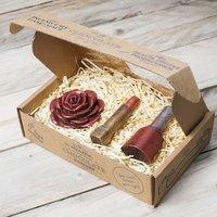 Chocolate Lipstick, Nail Varnish And Rose Gift Box, Red/Chocolate/White