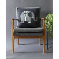Elephant Cushion In Knitted Lambswool