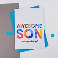 Awesome Son All Purpose Personalised Card
