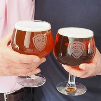 Personalised Father And Son Belgian Beer Glass Set