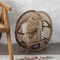 Natural Rattan Cane Magazine Rack