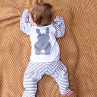 Personalised Bunny Rabbit Pyjamas For Children, Pink/Blue