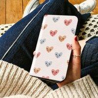 Heart Faces Wallet Phone Case, More Colours