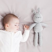Lenny The Hand Knitted Grey Bunny