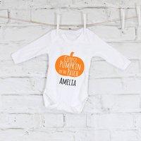 Cutest Pumpkin In The Patch Halloween Baby Grow
