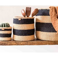 Charcoal Natural Storage Baskets