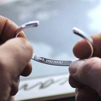 Men's Open Silver Bracelet, Silver