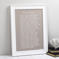 Personalised Grandma Nanny Granny Nan Print With Poem, Grey/Green/Taupe