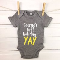 Baby's First Holiday Personalised Babygrow