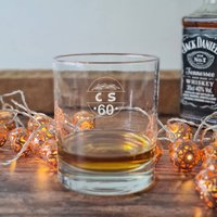Personalised 60th Birthday Whisky Glass