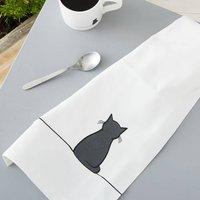 Sitting Cat Tea Towel