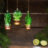 Cactus Baubles, Set Of Three