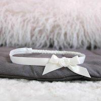 Olivia Baby Headband, Ivory/White