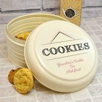Personalised Cream Cookie Tin