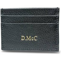 Initial Personalised Leather Card Holder