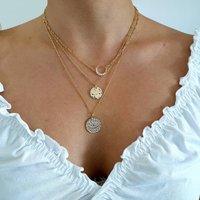 Set Of Three Layering Charm Necklace Set