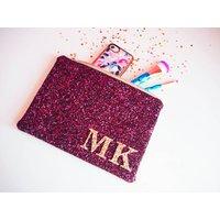 Personalised Monogram Glitter Clutch Bag