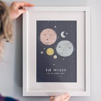 Personalised 'Our Universe' Family Planet Print