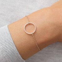 Personalised Sterling Silver Circle Of Life Bracelet, Silver