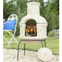 Two Part Traditional Clay Chiminea