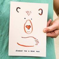'Bear Hug!' Get Well Soon Card